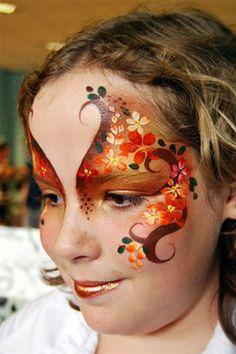 Herfst thema vlinder