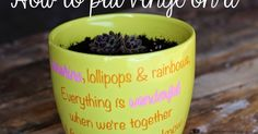 I had this brightly colored flower pot that was just begging to have a fun quote put on it. About this time last year I made another lov...