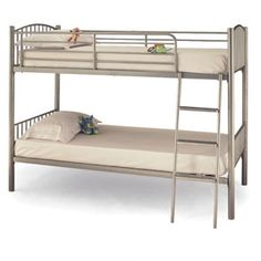 Serene Oslo Bunk Bed Constructed from Metal Simplistic and Stylish Design Sprung slatted base on both beds Can be separated into two single bed Frame only or available with 2 mattresses 2 Storage drawers on castors availa http://www.comparestoreprices.co.uk/bunk-beds/serene-oslo-bunk-bed.asp