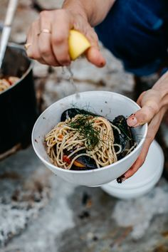 Mussels Cooked In Salt Water Pasta
