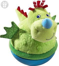 HABA Roly Poly Dragon Soft Wobbling & Chiming Baby Toy: Hear the roly poly dragon roar? Well, maybe just jingle! This just may be the jolliest dragon your little one will ever meet! Plastic base allows toy to wobble to and fro without falling over. Toddler Toys, Baby Toys, Toys For Little Kids, Kids Toys Online, Dragon Nursery, Gift Finder, Baby Games, Infant Activities, New Baby Products