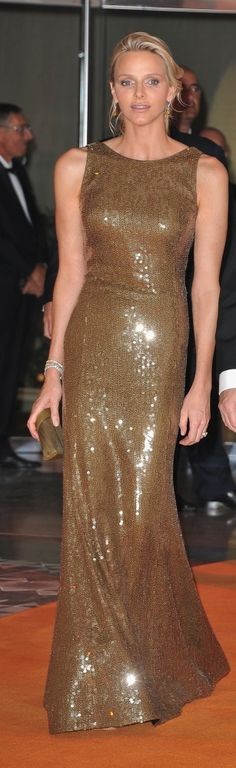 Princess Charlene of Monaco, wife of Prince Albert of Monaco.  Charlene is nearly as glamorous as Princess Grace was.