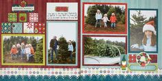 Christmas Memories Nordic Christmas Scrapbook Layout Page Idea from Creative Memories - using Limited Edition products available through December 2012.