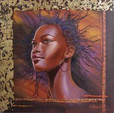 Beaute Noire by Nathalie Armand #Art #Painting #BlackIsBeautiful