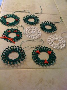 'New to Me' blog. From Christmas pass... The Big Book of Tatting pg 21 Silver Charm Suncatcher Ornament