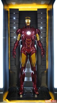 The Iron Man Mark IV armor at the Marvel San Diego Comic-Con booth.