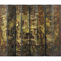A Chinese eight-panel coromandel lacquer screen, 18th Century - Sotheby's