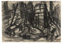 Leon Kossoff Demolition of the YMCA Building, London No. 3, 1970 charcoal on paper 23 1/4 x 33 in. (59 x 84 cm)