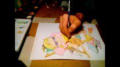 Ζωγραφική με νερομπογιές, ακουαρέλα, speed x16