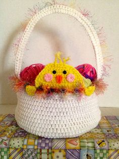 New+Easter+crochet | Crochet Easter Baskets by The Crochet Crowd. New Design