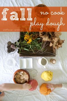 best no cook play dough for fall - Wildflower Ramblings