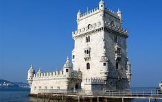 Belém Tower in Lisbon, Portugal Belem Portugal, Us Travel, Travel Tips, Notre Dame, Terrace, Tower, Vacation, Architecture, World