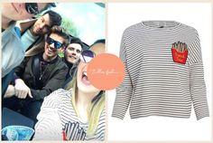 Instagram Story // 12th April Joanie Clothing Brett French Fries Breton Stripe Top - £28
