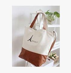 handbag Paris Tower Canvas bag