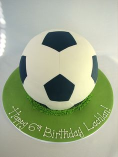 Joel's 5th birthday - Soccer ball cake