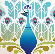 Peacock Decal Wall Stickers Graphic Art Sally Boyle Applied