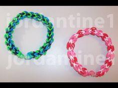 ▶ New Over Easy Bracelet - Beginner Level - Rainbow Loom, Crazy Loom, Bandaloom - YouTube
