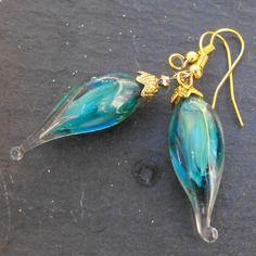 Belles boucles d'oreille perles murano faites main bcl.2495