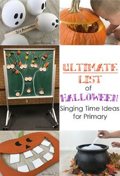ULTIMATE List of Halloween Primary Singing Time Ideas