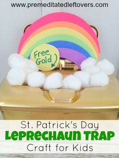 Patrick's Day Leprechaun Trap Craft for Kids- Little ones will love making this fun leprechaun trap and waiting to see if it works on St. Rainbow crafts idea and game activity. Love You Baby Quotes, I Love You Baby, School Projects, Projects For Kids, Diy For Kids, Kindergarten Projects, Class Projects, Holiday Crafts, Holiday Fun