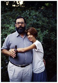 Sofia Coppola with Francis Coppola