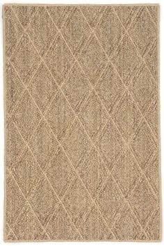 This is a sisal with a pattern. It is flat and has a tight weave. It would be great as the rug on the bottom in the keeping room.