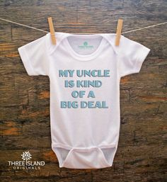 Cute and Funny Onesie for Baby Boy or Girl by ThreeIslandOriginals, $19.95