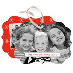 Holiday Snowflakes Deco Rectangle Metal Ornament by Shutterfly | Shutterfly.com