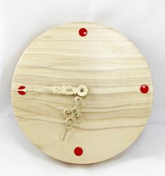 Tulip Wood Hand Turned Wall Clock