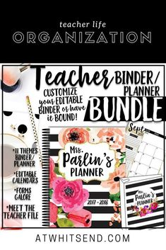 Stay organized with teacher binder covers, calendars, teacher forms, meet the teacher pritables and so much more!