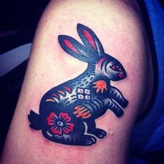 traditional rabbit tattoo - Google Search