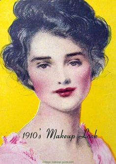 Early 20th century makeup style.
