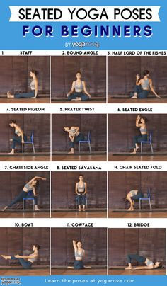 Here are the best 25 seated yoga poses for beginners, perfect for anyone who has. Here are the best 25 seated yoga poses for beginners, perfect for anyone who has sensitive knees or Sitting Yoga Poses, Seated Yoga Poses, Yoga Poses For Back, Easy Yoga Poses, Chair Yoga Poses, Bikram Yoga, Yin Yoga, Yoga Meditation, Iyengar Yoga