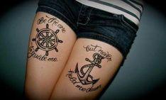 Anchor nautical tattoo | Tattoos | Pinterest