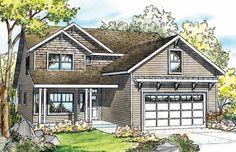 Elkhorn 30-733 - Narrow Lot Home Plan from Associated Designs