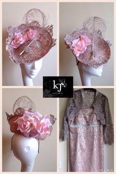 Custom headpiece #lace #headpiece #fascinator #hat
