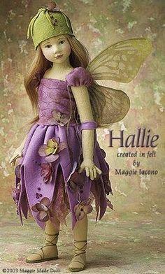pressed wool felt fairy girl doll by Maggie Iacono
