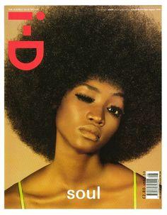 Nigerian model Oluchi Onweagba on the cover of i-D Magazine.