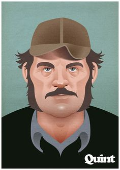"""Amazing """"JAWS"""" Character Art from Artist Dave Merrell. Enjoy! Please visit Dave's Site for more incredible work!"""