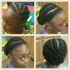 Summer Cornrows Little Black Girls Hairstyle Tutorial Natural