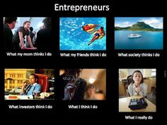 What people think entrepreneurs do...