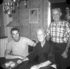Last visit in Stockbridge, Norman and Buddy sitting, Jim standing. Norman Rockwell Art, Norman Rockwell Paintings, Comic Artist, Famous Artists, Vintage Photography, Authors, Photographs, America, Comics