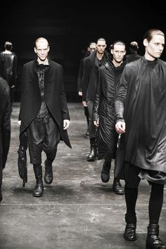 JULIUS AW2012 - they look like someones' rather boring dark army/cult
