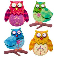 Stitched Owls Stickers_50-21299