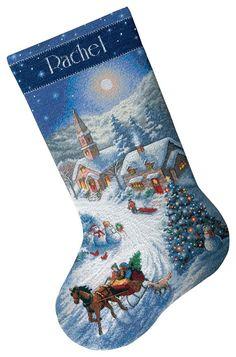 Holiday Needlepoint Stocking, Cotton - L.L. Bean | Catalog Spree ...