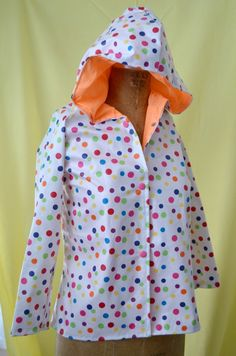 Colorful Polka Dot Raincoat