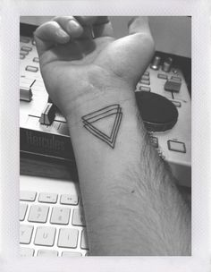 Wrist Triangle Tattoo #geometry #tattoo #triangle