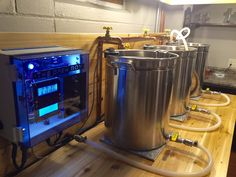 Homebrewers enter the hobby in various ways, one-gallon kits, 5 gallon extract and even some adventurous types jump straight into 5 gallon all-grain setups. Very few move to full scale brew sculptures, but it\'s eye candy to look at and dream about. Here are some jaw-dropping homebrew rigs we have found from our own research (though is it really research when you\'re just ogling?)TheBrewBox posted this fine specimen; his own electric brewing setup of 11 gallon stainless tanks, Chugger pumps…
