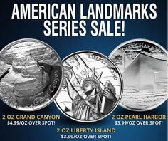 Buy Now: http://goccf.com/jmb/silver/silver-rounds/elemetal-us-landmarks-silver-rounds/  2 Ounce Silver Ultra High Relief Sale, Grand Canyon, Liberty Island, and Pearl Harbor - Coin Community Forum