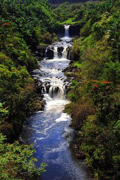 Umauma Falls, World Botanical Gardens, Hilo, Island of Hawaii. Going here during our 2nd trip to Hawaii